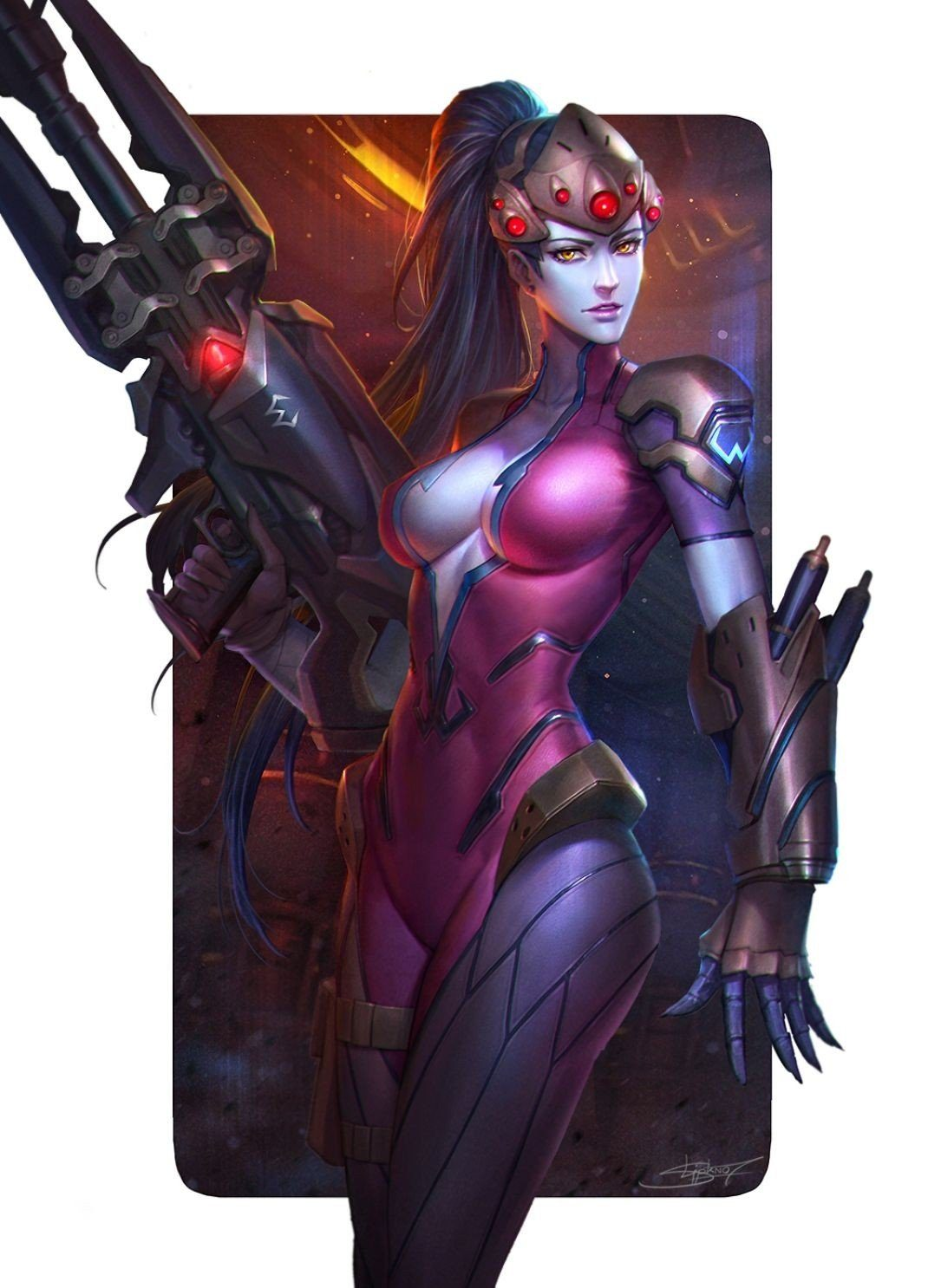 Overwatch Widowmaker clear background  boobs Widow hot